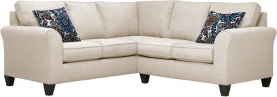 Oliver Sectional, Beige/Blue, swatch