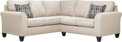 Oliver Sectional, Beige/Bluestone, swatch