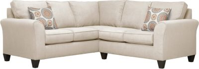 Oliver Sectional, Beige/Marmalade, swatch