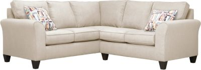 Oliver Sectional, Beige/Plum, swatch