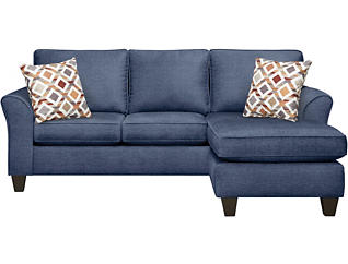 Oliver II Blue Sofa Chaise, , large