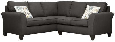 Oliver Sectional, Charcoal/Aloe, swatch