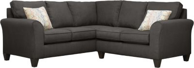 Oliver Sectional, Charcoal/Canyon, swatch