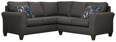 Oliver Sectional, Charcoal/Blue, swatch