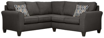 Oliver Sectional, Charcoal/Bluestone, swatch