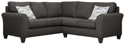 Oliver Sectional, Charcoal/Marble, swatch