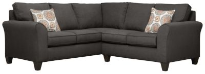 Oliver Sectional, Charcoal/Marmalade, swatch