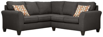 Oliver Sectional, Charcoal/Pumpkin, swatch