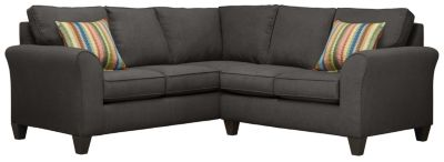 Oliver Sectional, Charcoal/Rainbow, swatch