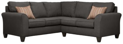 Oliver Sectional, Charcoal/Rose, swatch