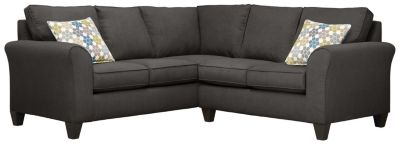 Oliver Sectional, Charcoal/Tidal, swatch