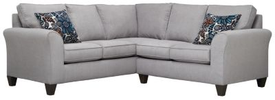 Oliver Sectional, Grey/Blue, swatch
