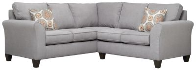 Oliver Sectional, Grey/Marmalade, swatch