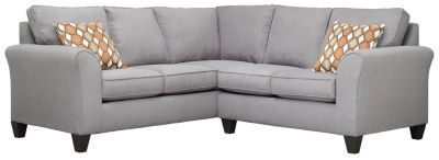 Oliver Sectional, Grey/Pumpkin, swatch