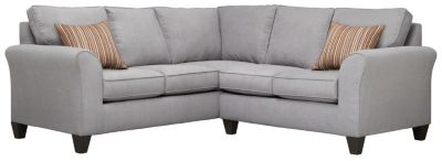 Oliver Sectional, Grey/Rose, swatch