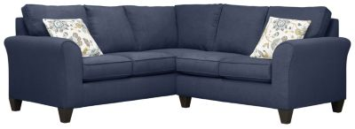 Oliver Sectional, Navy/Aloe, swatch
