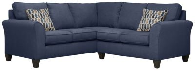 Oliver Sectional, Navy/Bluestone, swatch