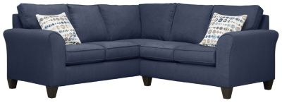 Oliver Sectional, Navy/Marble, swatch