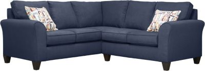 Oliver Sectional, Navy/Plum, swatch