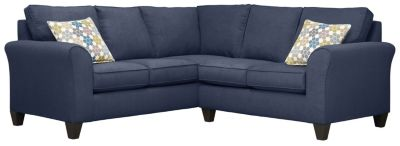 Oliver Sectional, Navy/Tidal, swatch