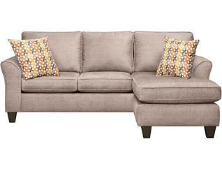 Oliver II Sand Sofa Chaise, , large