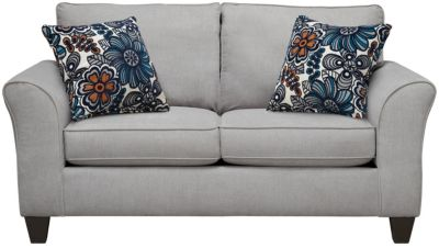 Oliver Loveseat, Grey/Blue, swatch