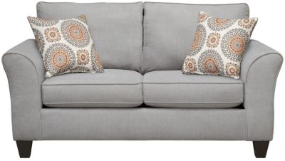 Oliver Loveseat, Grey/Marmalade, swatch