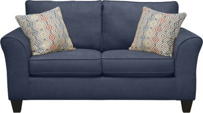 Oliver Loveseat, Navy/Canyon, swatch