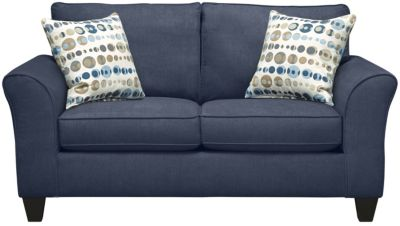 Oliver Loveseat, Navy/Marble, swatch