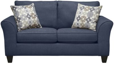 Oliver Loveseat, Navy/Moonstone, swatch