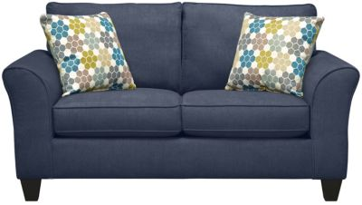 Oliver Loveseat, Navy/Tidal, swatch