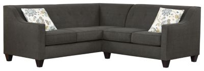 Axis Sectional, Charcoal/Aloe, swatch