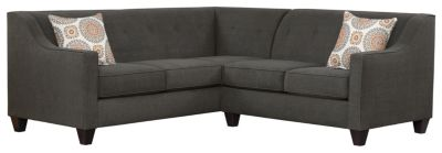 Axis Sectional, Charcoal/Marmalade, swatch