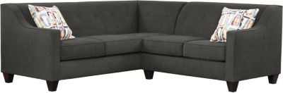Axis Sectional, Charcoal/Plum, swatch