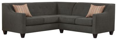 Axis Sectional, Charcoal/Rose, swatch