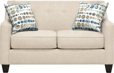 Axis Loveseat, Beige/Marble, swatch
