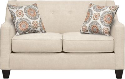 Axis Loveseat, Beige/Marmalade, swatch