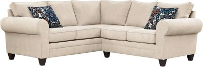 Saxon Sectional, Beige/Blue, swatch