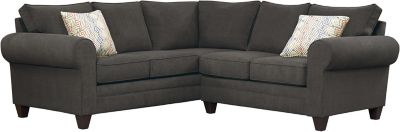 Saxon Sectional, Charcoal/Canyon, swatch