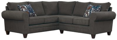 Saxon Sectional, Charcoal/Blue, swatch