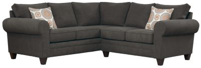 Saxon Sectional, Charcoal/Marmalade, swatch