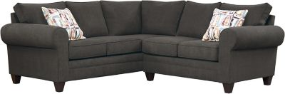 Saxon Sectional, Charcoal/Plum, swatch