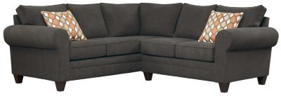 Saxon Sectional, Charcoal/Pumpkin, swatch