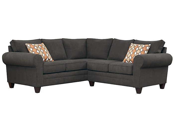 ... Saxon Sectional, Charcoal/Plum, Grey, large ...