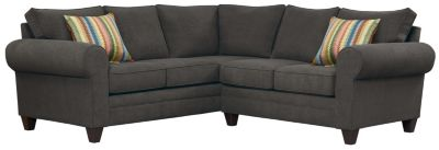 Saxon Sectional, Charcoal/Rainbow, swatch