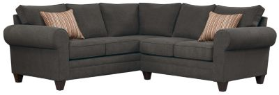 Saxon Sectional, Charcoal/Rose, swatch