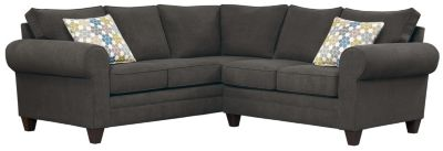 Saxon Sectional, Charcoal/Tidal, swatch