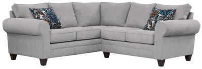 Saxon Sectional, Grey/Blue, swatch
