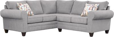 Saxon Sectional, Grey/Plum, swatch