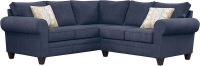 Saxon Sectional, Navy/Canyon, swatch